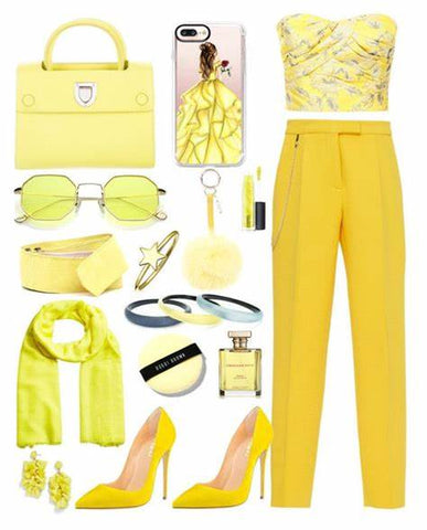 womens yellow outfit