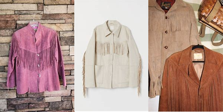 fringed jackets flatlay