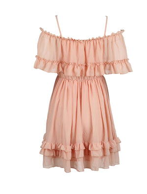 Peach coloured mini dress for women from WearhouseOnline