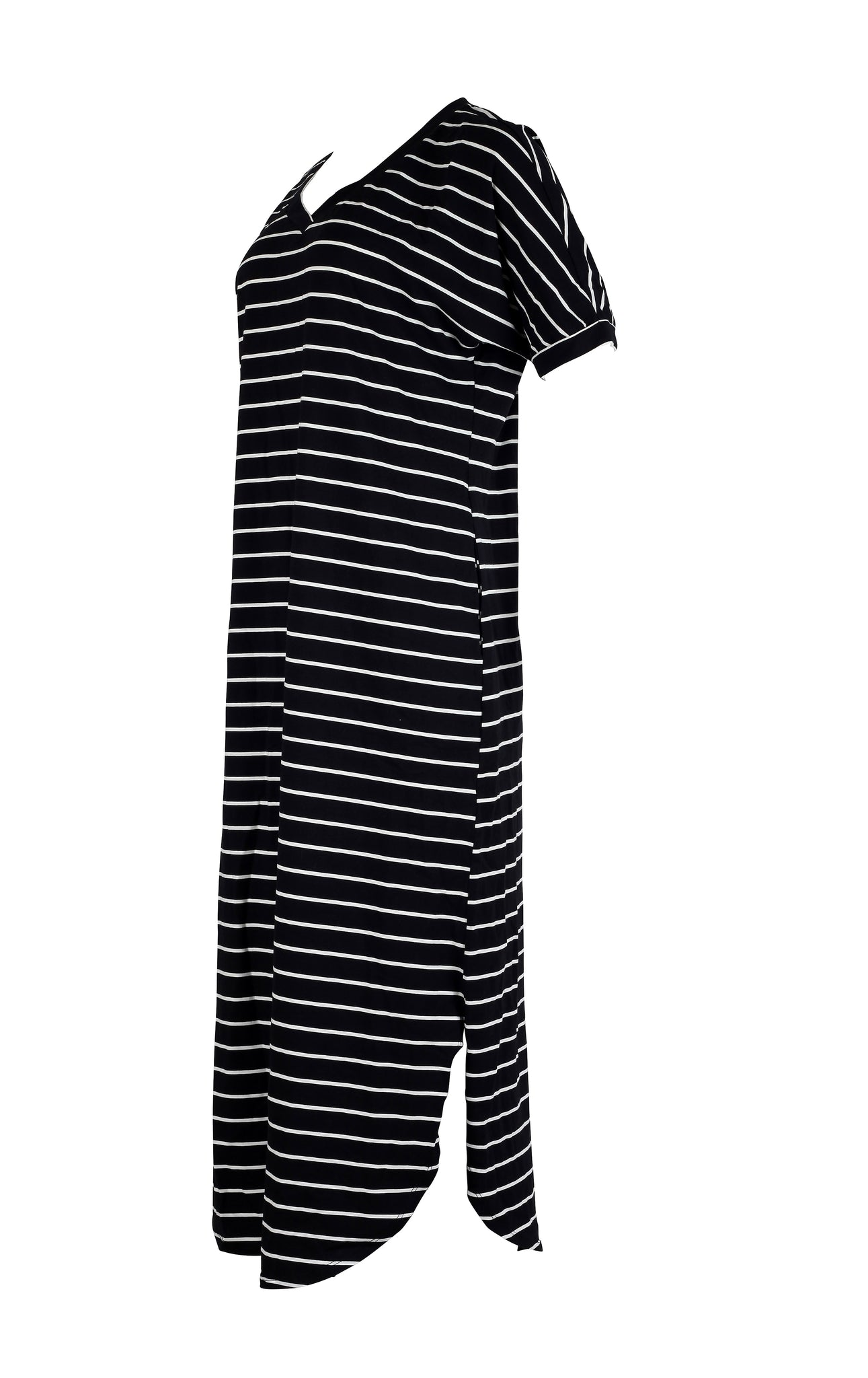 Black and White Side Split Striped Dress for women from WearhouseOnline
