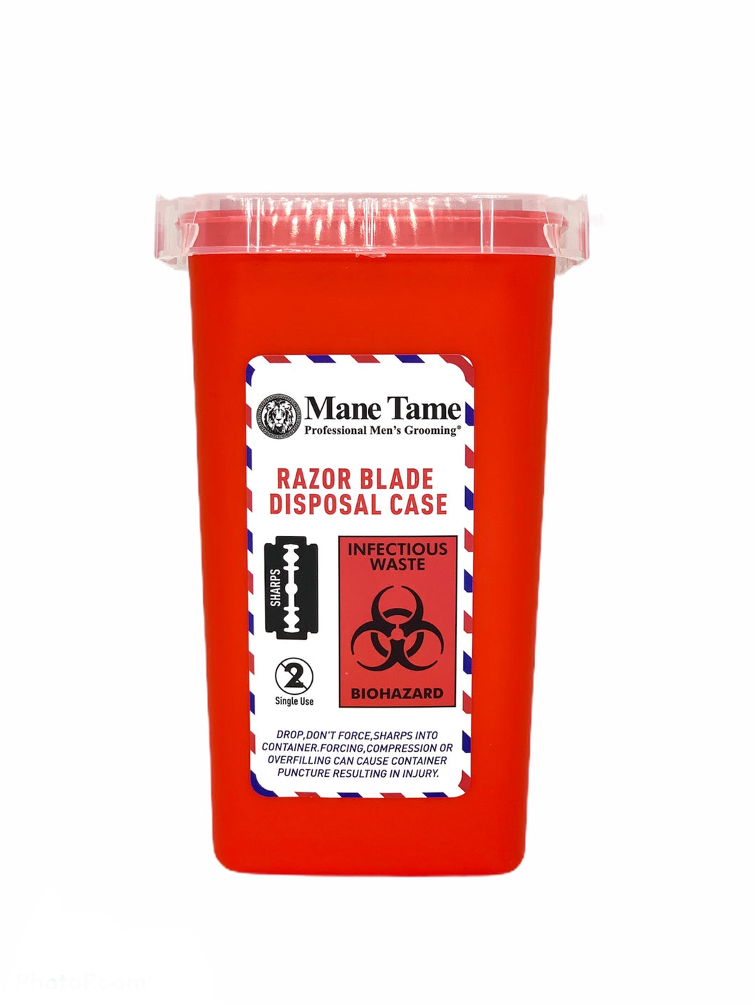Mane Tame Blade Disposal Red Container