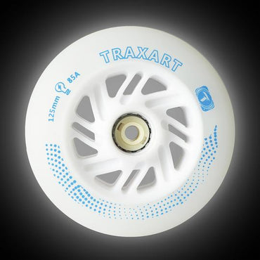 Rodas LED Patins Roller Traxart 125mm 85a