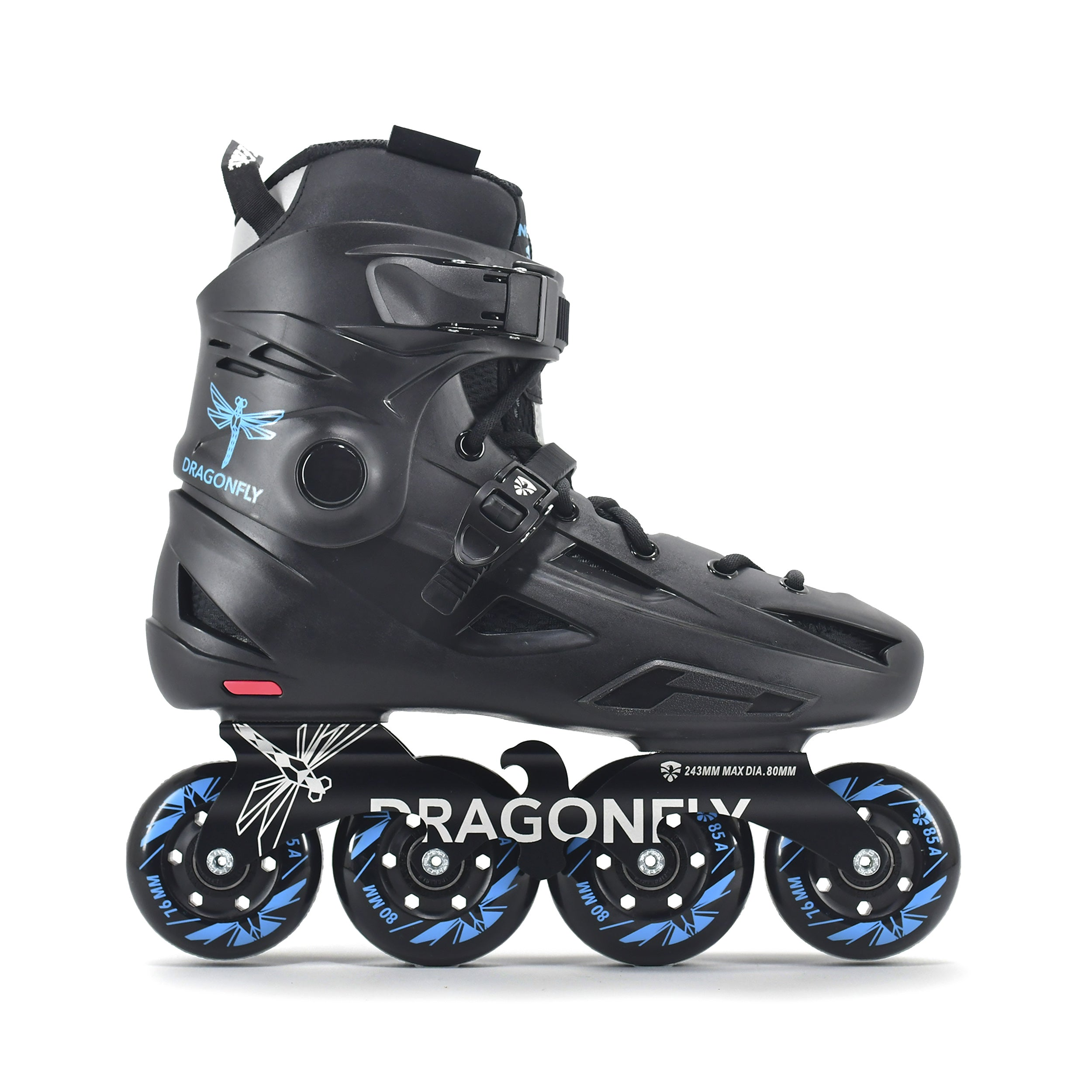 Patins Urbano Flying Eagle Dragon Fly F3 Preto com Azul Rodas 72/76/80mm 85a Abec-7