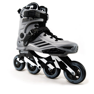 Patins HD Inline Fast 2020 80mm com base hibrida de 110mm Lançamento Abec-9