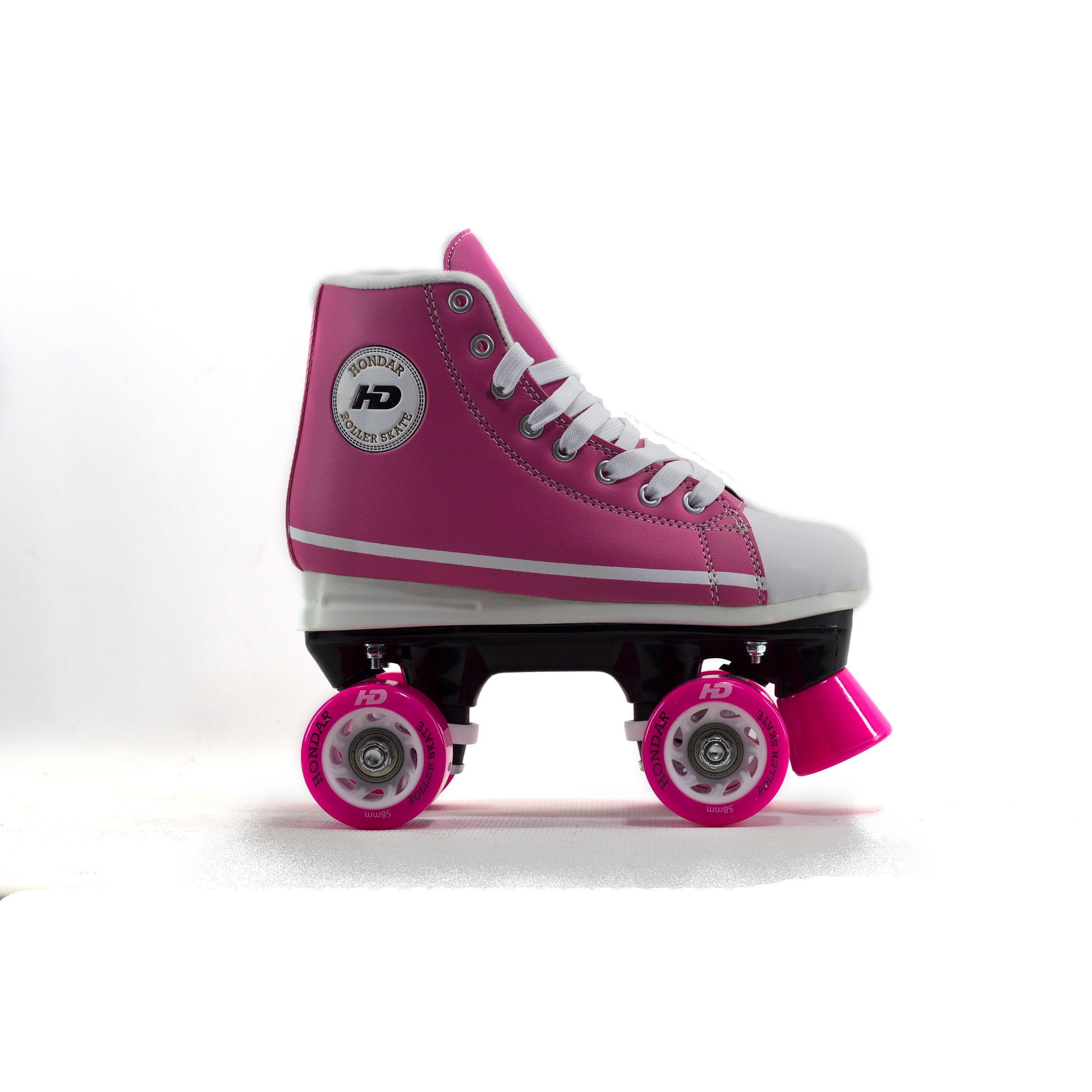 Patins Quad Tradicional HD All Star Rosa Abec-7