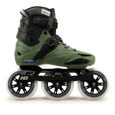 Patins HD Inline Wave Profissional Base 110mm 85a Abec-9 High Rebound