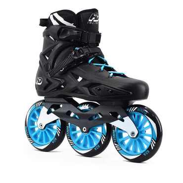 "Patins Roller HD Inline ""X"" Profissional Base Evolution Roda Azul 125mm 82A Abec-7"