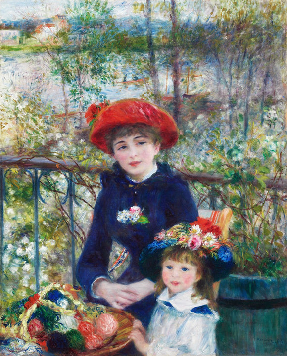 Two Sisters (On the Terrace) (1881) by Pierre-Auguste Renoir.