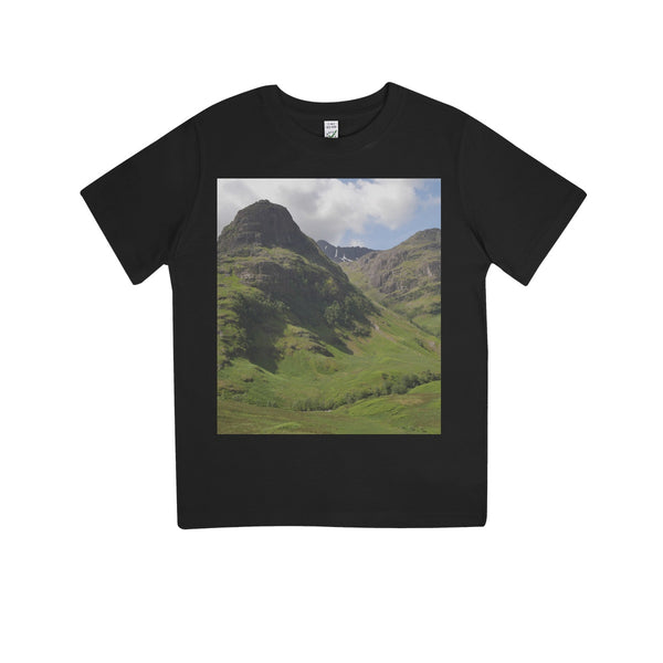 Glencoe 64 , the Highlands of Scotland Kids 100% Organic T-Shirt