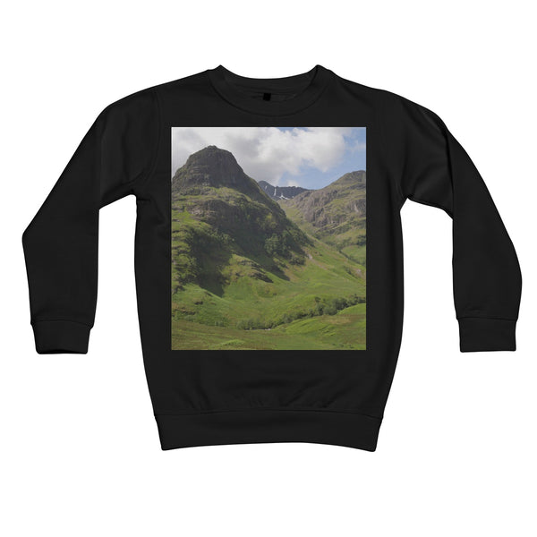 Glencoe 64 , the Highlands of Scotland Kids Retail Sweatshirt