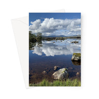 Lochan na - h Achlaise 2378 ,  the Black Mount,the Highlands, Scotland Greeting Card