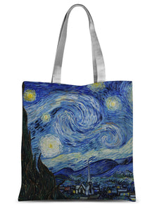 The Starry Night by Vincent Van Gogh Sublimation Tote Bag