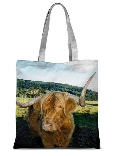 Highland Cow 16 Sublimation Tote Bag