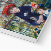 Two Sisters (On the Terrace) (1881) by Pierre-Auguste Renoir. Canvas Print