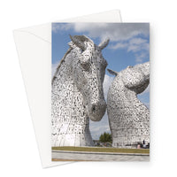 the Kelpies 906, the Helix, Falkirk , Scotland Greeting Card