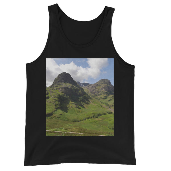 Glencoe 64 , the Highlands of Scotland Unisex Jersey Tank Top
