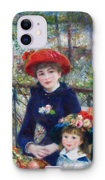 Two Sisters (On the Terrace) (1881) by Pierre-Auguste Renoir. Phone Case