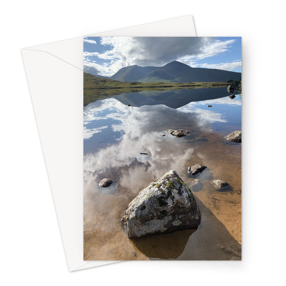Lochan na - h Achlaise and The Black Mount Greeting Card