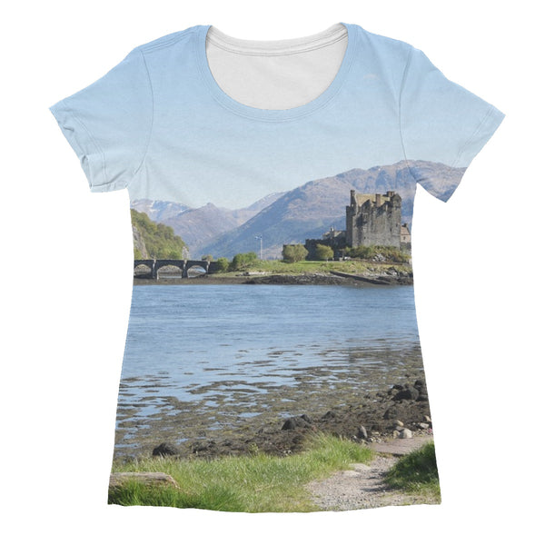 Eilean Donan Castle 40 in the Highlands of Scotland Women's Sublimation T-Shirt