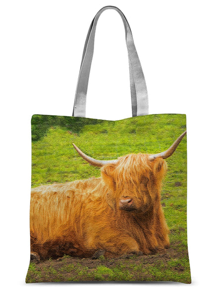 Highland Cow 27 Sublimation Tote Bag