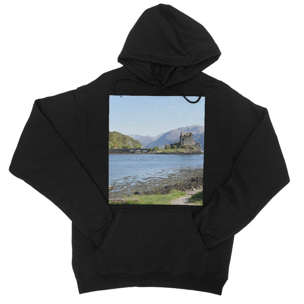 Eilean Donan Castle 40 in the Highlands of Scotland College Hoodie