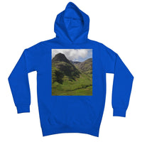 Glencoe 64 , the Highlands of Scotland Kids Retail Hoodie