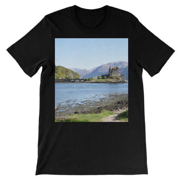 Eilean Donan Castle 40 in the Highlands of Scotland Unisex Short Sleeve T-Shirt
