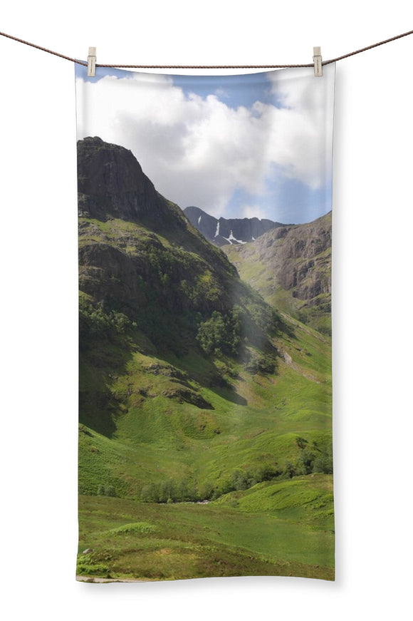 Glencoe 64 , the Highlands of Scotland Towel