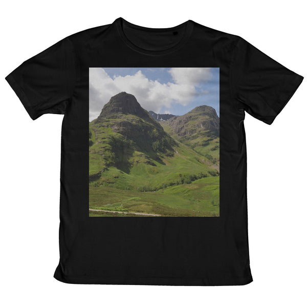 Glencoe 64 , the Highlands of Scotland Mens Retail T-Shirt