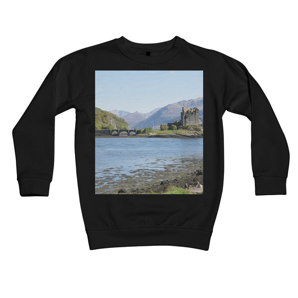 Eilean Donan Castle 40 in the Highlands of Scotland Kids Retail Sweatshirt