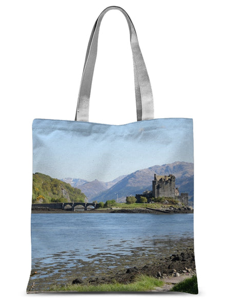Eilean Donan Castle 40 in the Highlands of Scotland Sublimation Tote Bag