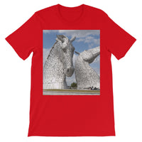 the Kelpies 906, the Helix, Falkirk , Scotland Unisex Short Sleeve T-Shirt
