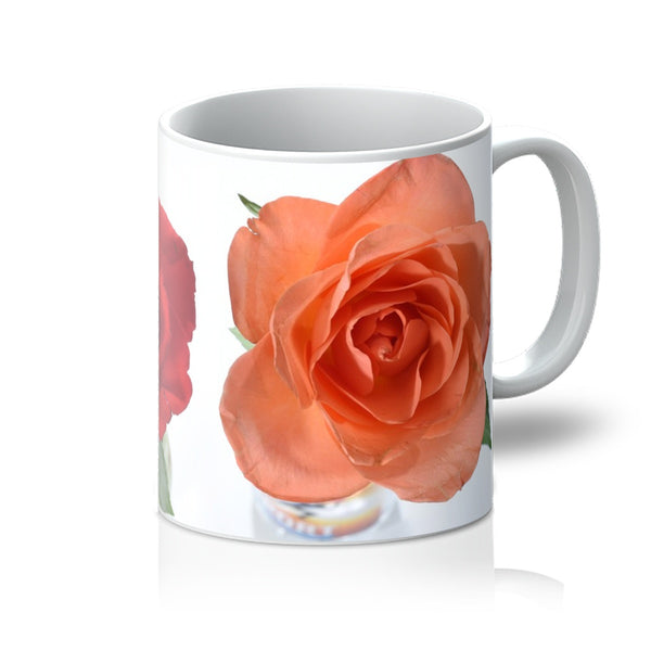 Two roses Mug  ,  Floral mugs from Photogold gifts