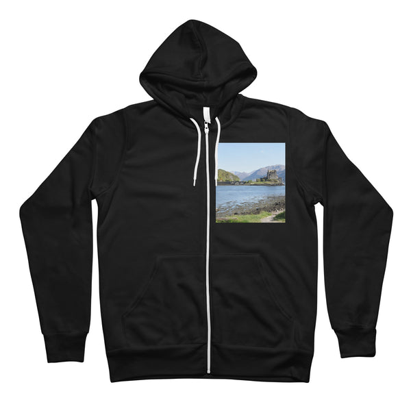 Eilean Donan Castle 40 in the Highlands of Scotland Unisex Full Zip Hoodie