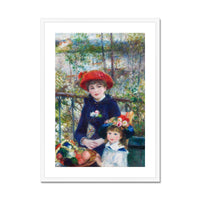 Two Sisters (On the Terrace) (1881) by Pierre-Auguste Renoir. Framed & Mounted Print