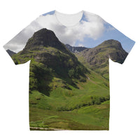 Glencoe 64 , the Highlands of Scotland Kids' Sublimation T-Shirt