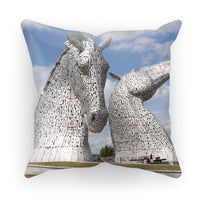 the Kelpies 906, the Helix, Falkirk , Scotland Cushion