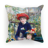 Two Sisters (On the Terrace) (1881) by Pierre-Auguste Renoir. Cushion
