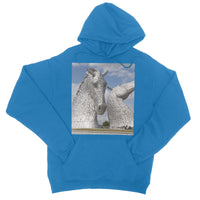 the Kelpies 906, the Helix, Falkirk , Scotland College Hoodie