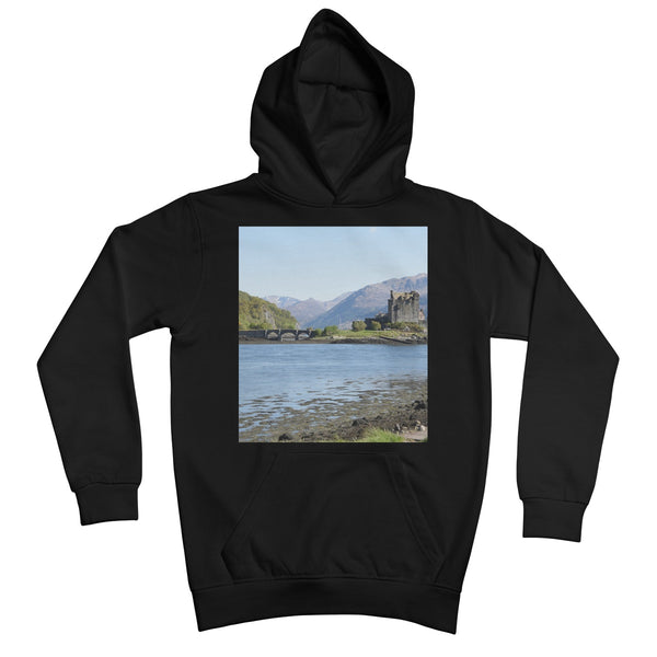 Eilean Donan Castle 40 in the Highlands of Scotland Kids Retail Hoodie