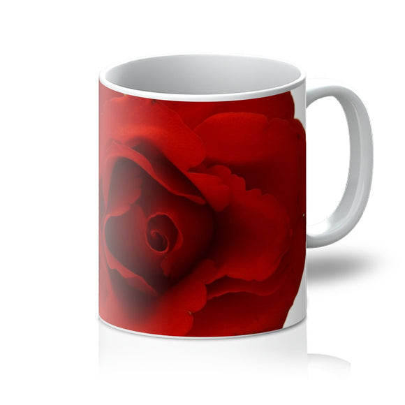 Red Rose Mug , original gifts, floral mugs