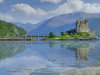 Eilean Donan Castle Large Format Canvas print 90 by 60 cm , 48 by 36 inches, Landscape prints
