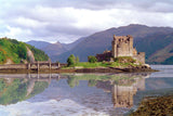 Two posters of Scotland - Eilean Donan Castle and Buachaille Etive Mor