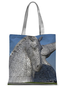 the Kelpies 1121, the Helix , Falkirk , Scotland Sublimation Tote Bag