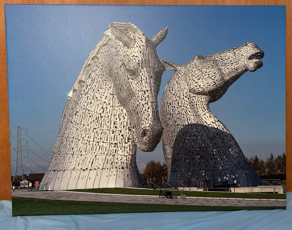 The Kelpies Large Canvas Print 40 by 30 inches