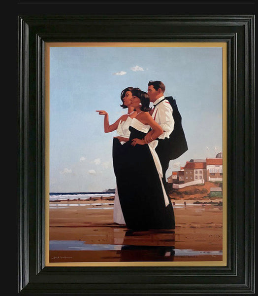 "Missing Man II by Jack Vettriano  New  premium signed limited edition run of 75+7 of 'The Missing Man II' by Jack Vettriano  This new premium limited edition is being produced in the same size as the original painting (30"" x 24"") in a very high quality giclee format which is then hand embellished with 3 coats of lacquer to give a satin finish."