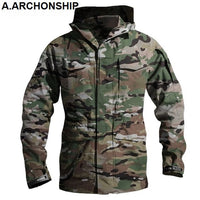 M65 UK US Army Clothes Windbreaker Military Field Jackets Mens Winter/Autumn Waterproof Flight Pilot Coat Hoodie Three colors