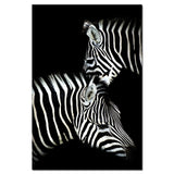 Animal Giraffe Zebra Lion Elephant Horse Prints & Poster Black and White Canvas Art Wall Decorative Picture for Living Room