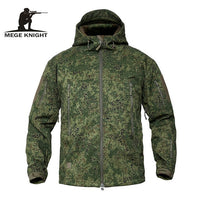 Mege Shark Skin Soft Shell Military Tactical Jacket Men Waterproof Army Fleece Clothing Multicam Camouflage Windbreakers 4XL