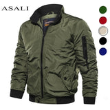 Casual Waterproof Spring 2020 Military Jacket Men's top Jackets Coats Men Outerwear Casual Brand Zipper Thin Coat Stand-Collar
